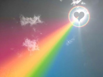 rainbow sun heart glow