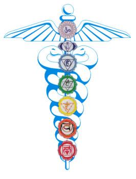 Yoga  chakras-caduceus